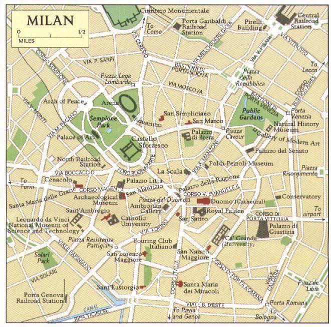 مرحباً بكم في ميلانو عاصمة الموضه الأوربيه وأكبر مقر للسفارات في أوربا Mappa_milano