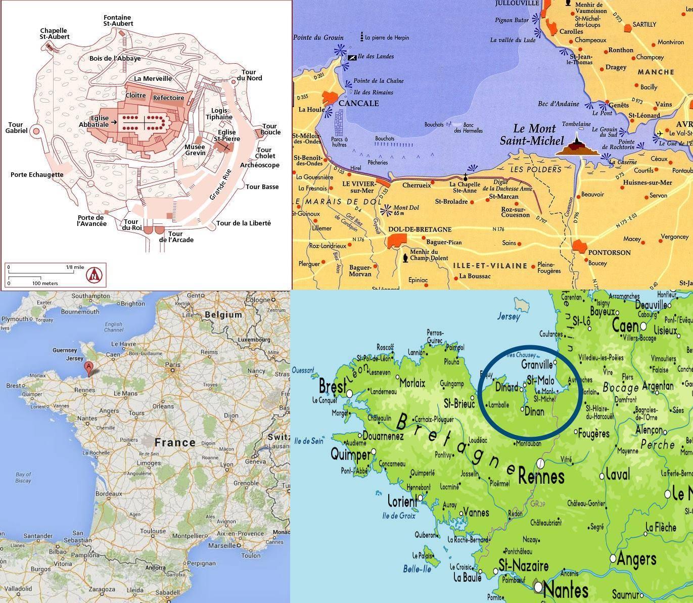mapa michel Mappa di Mont St Michel   Cartina di Mont St Michel mapa michel
