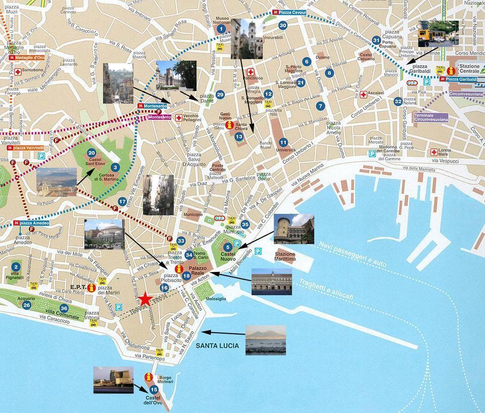 Cartina Geografica Napoli E Dintorni.Mappa Napoli Cartina Di Napoli