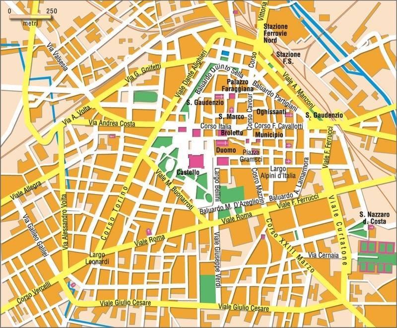 Mapa Novara