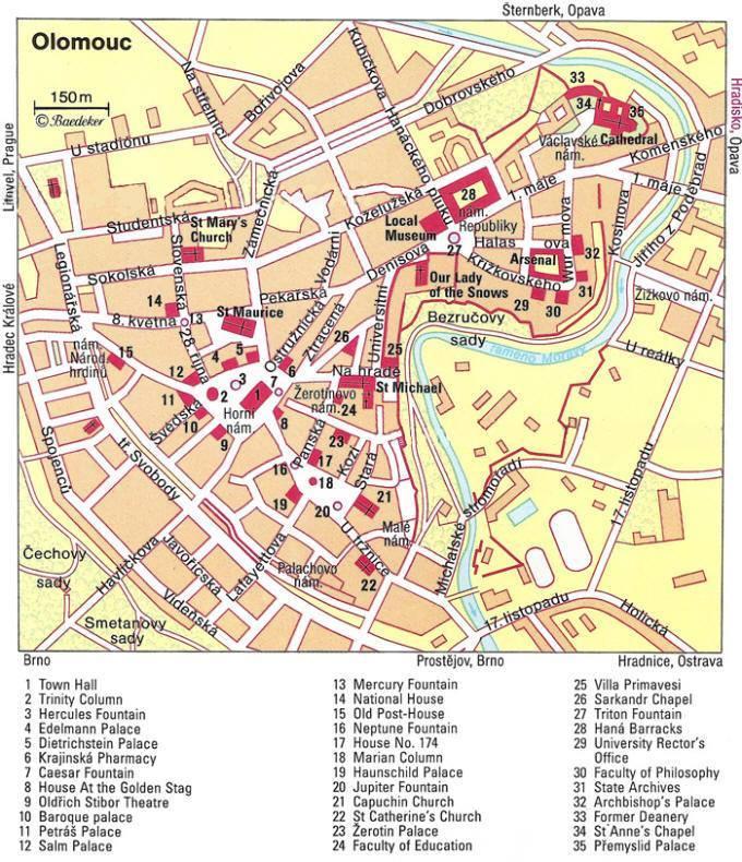 Map of Olomouc