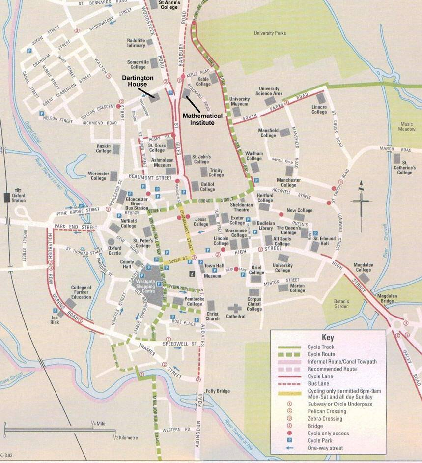 Mappa di Oxford- Cartina di Oxford
