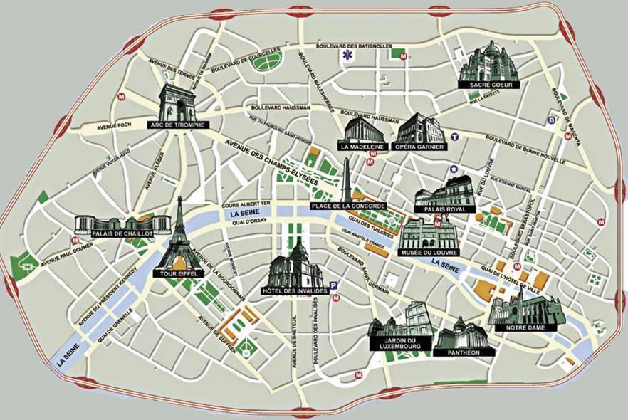 Mappa di parigi cartina di parigi vedere anche mappa metropolitana