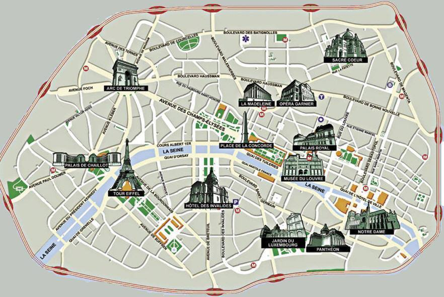 Cartina Citta Di Parigi.Mappa Di Parigi Cartina Di Parigi