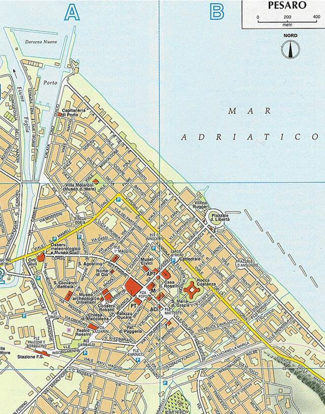 Carte Italie Pesaro.Carte Pesaro Plan De Pesaro