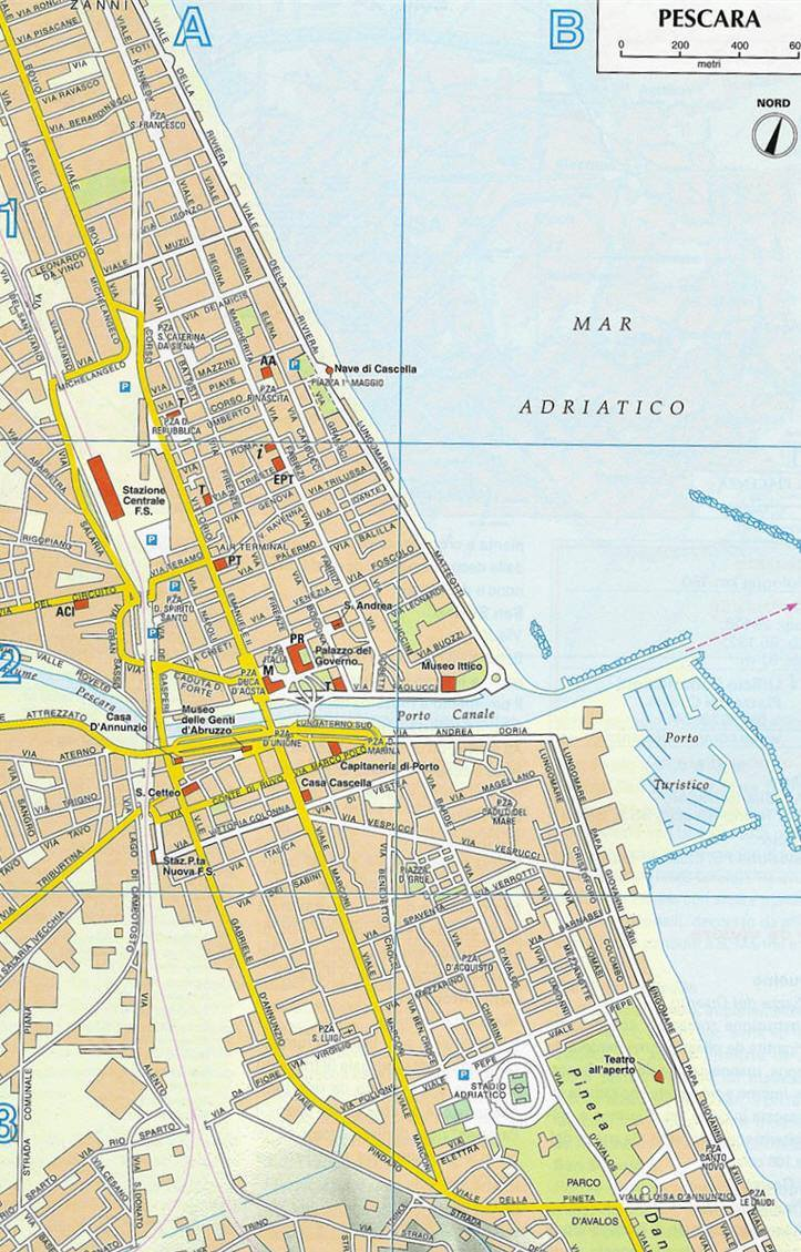 Pescara Cartina.Mappa Di Pescara Cartina Di Pescara