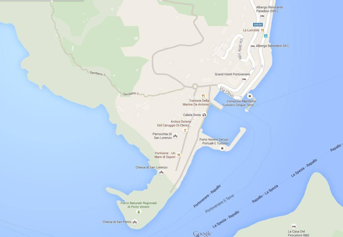 Karte Von Portovenere Stadtplan Portovenere