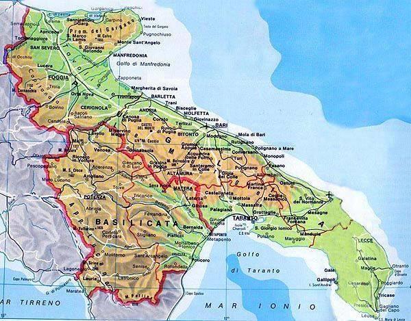 carte des pouilles détaillée Carte Pouilles   Plan de Pouilles