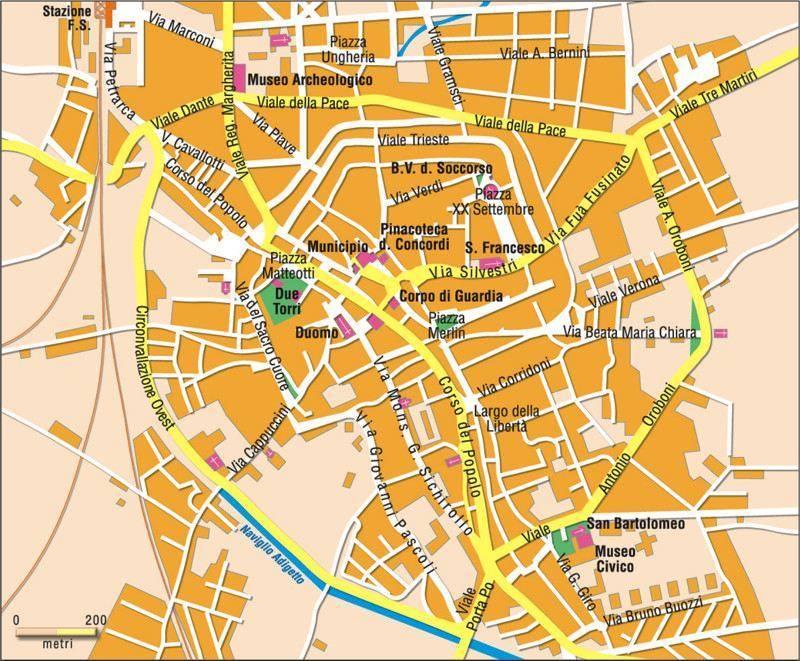 Cartina Dell Italia Rovigo.Mappa Di Rovigo Cartina Di Rovigo