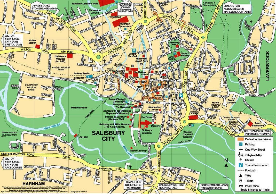 Karte Von Salisbury Stadtplan Salisbury