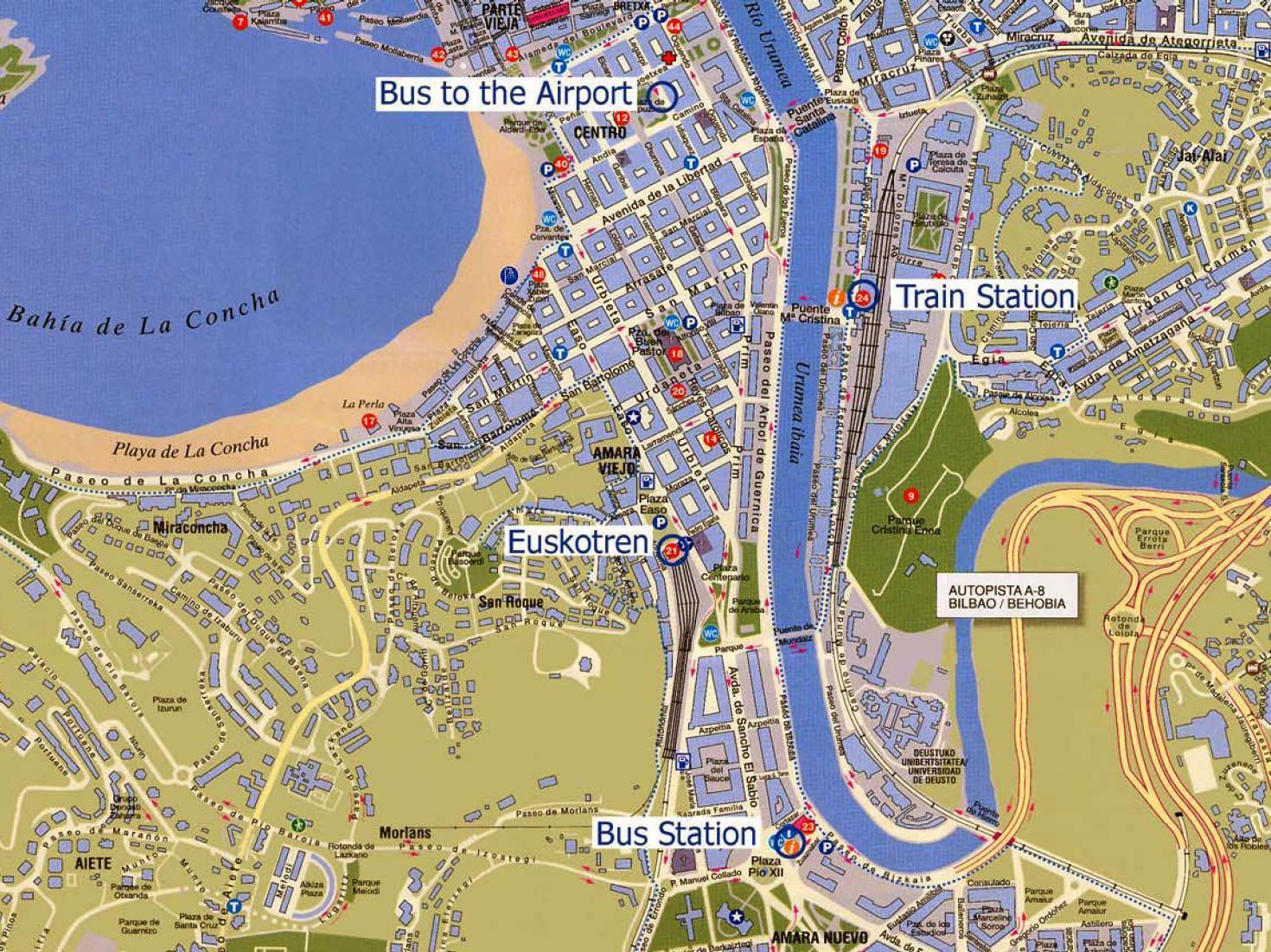 San Sebastian Spagna Cartina.Map Of San Sebastian