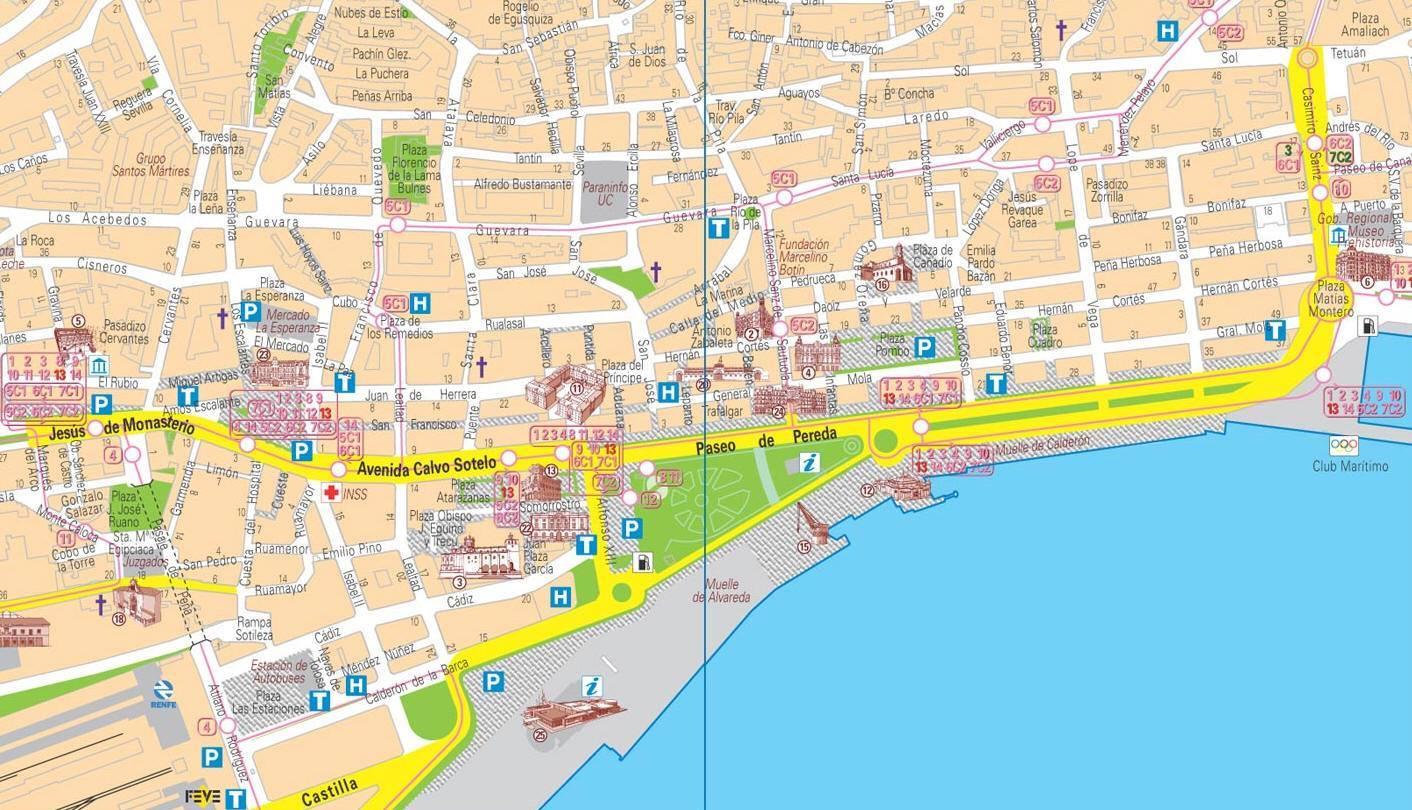 Mappa Turistica Barcellona Pelautscom