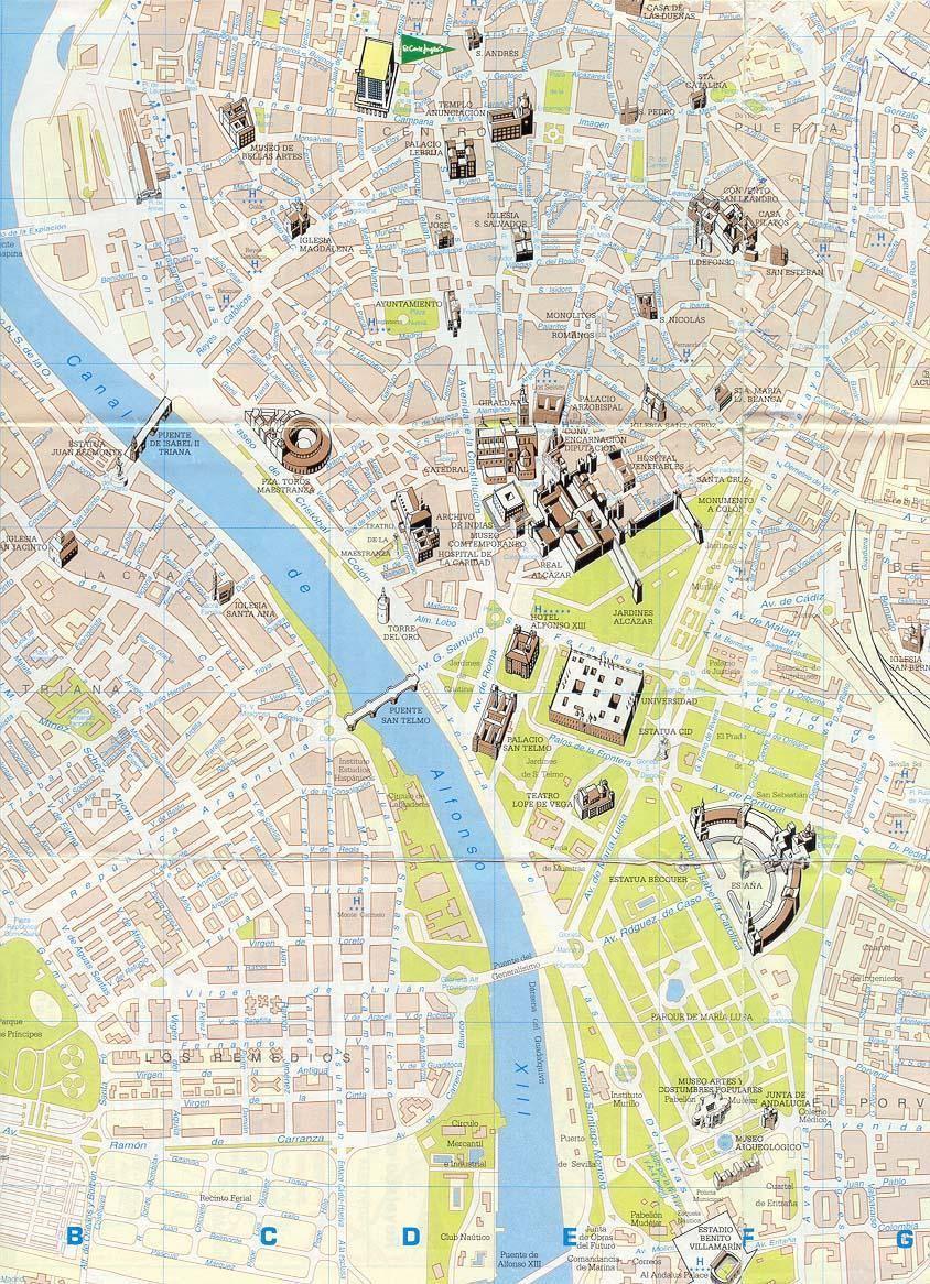 Mappa di siviglia cartina di siviglia for Codigo postal del barrio de salamanca en madrid