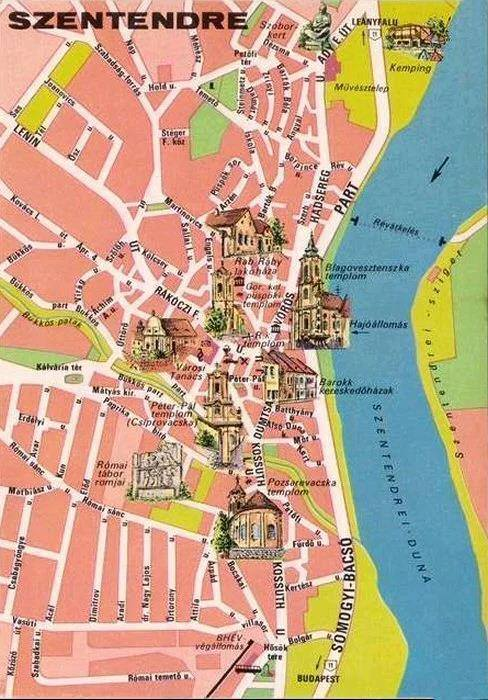 Karte Von Szentendre