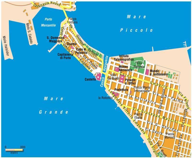 Carte Taranto   Plan de Taranto