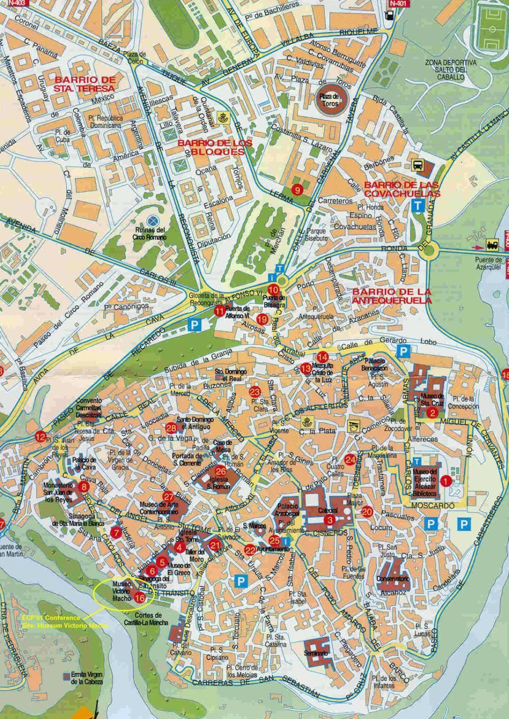 Cartina Valencia Spagna.Mappa Di Toledo Cartina Di Toledo
