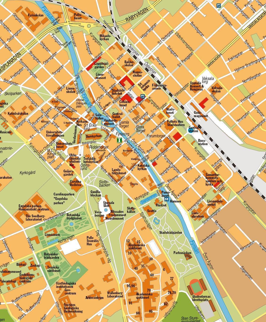 Carte Uppsala Plan De Uppsala