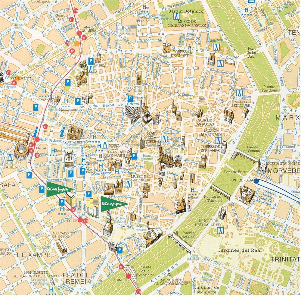 Salamanca Cartina.Mappa Di Valencia Cartina Di Valencia