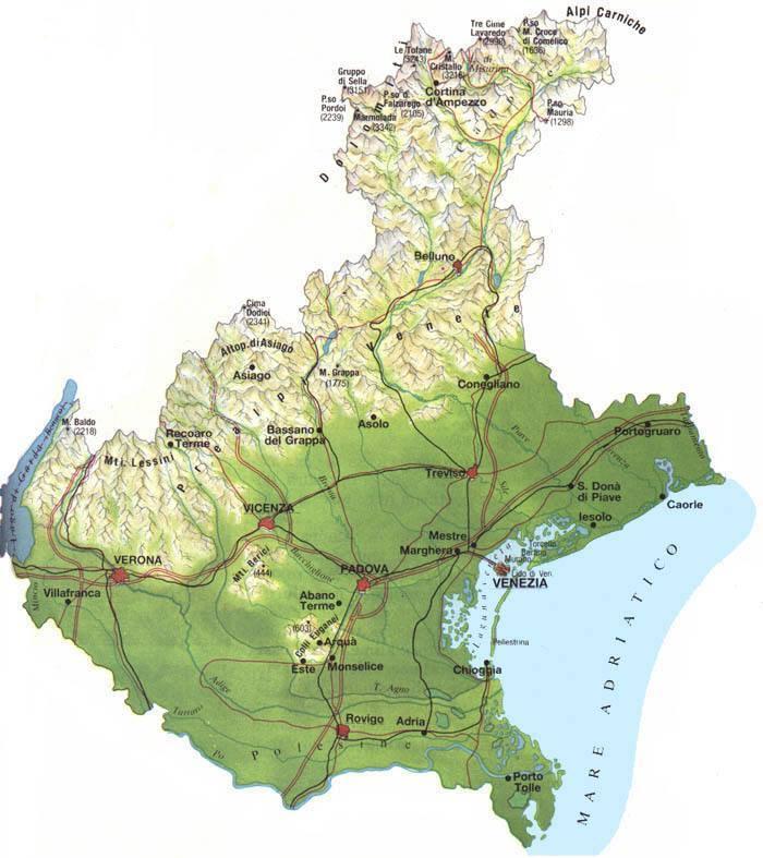 Map of Veneto