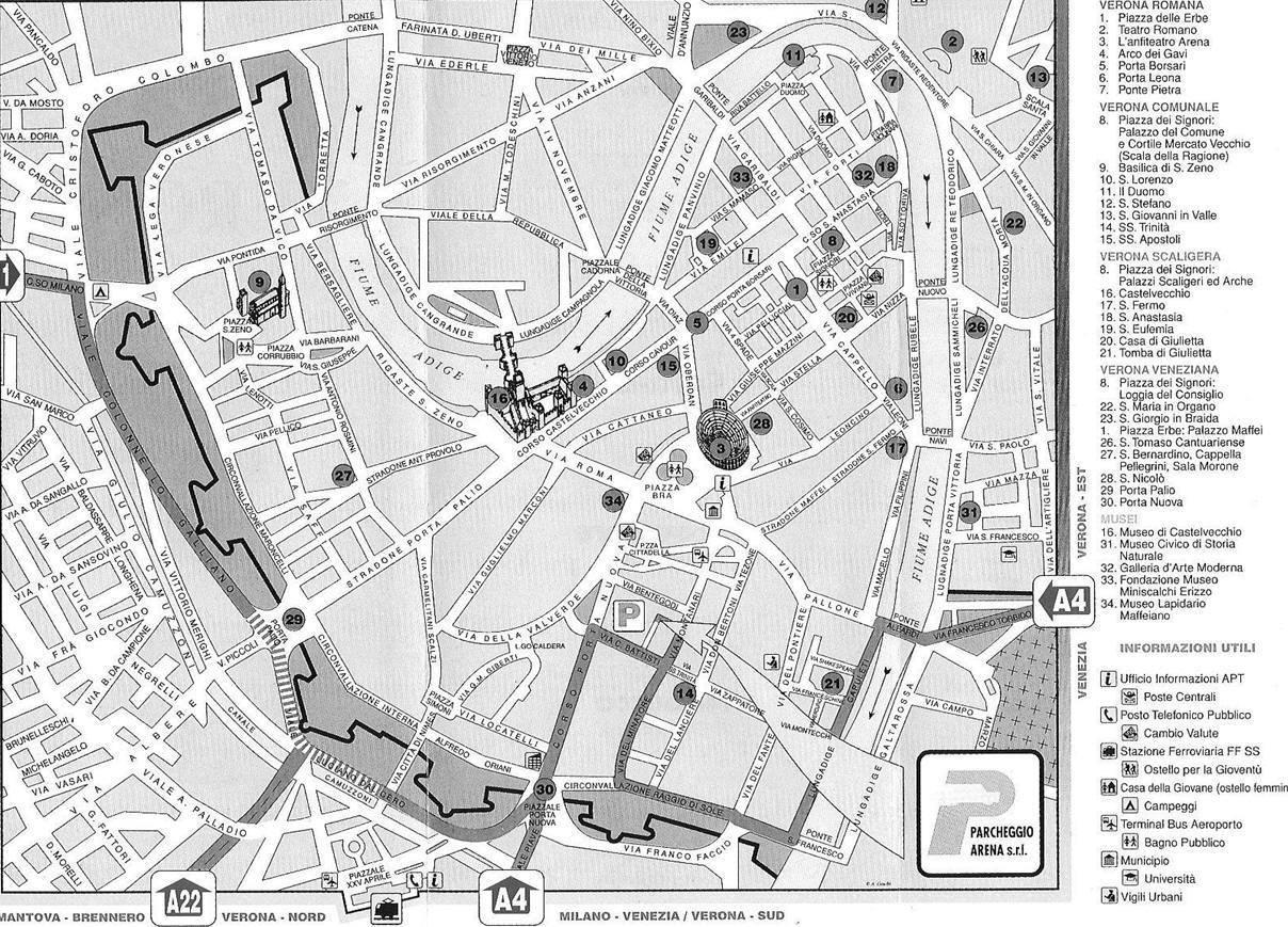 Cartina Verona.Mappa Di Verona Cartina Di Verona
