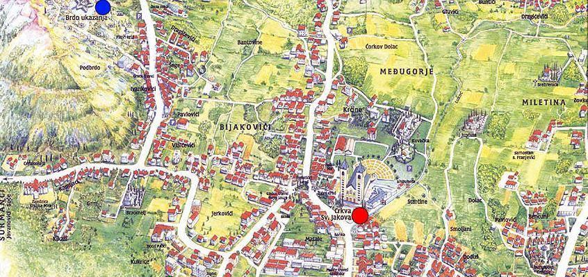 Medjugorje Bosnia  city pictures gallery : Mapa Medjugorje Plano de Medjugorje