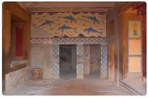 Interni palazzo - Sala dei delfini - Cnosso