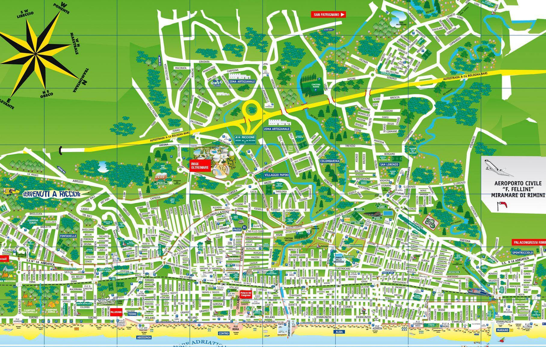 Riccione Italy  city pictures gallery : Riccione Italy Map Related Keywords & Suggestions Riccione Italy Map ...