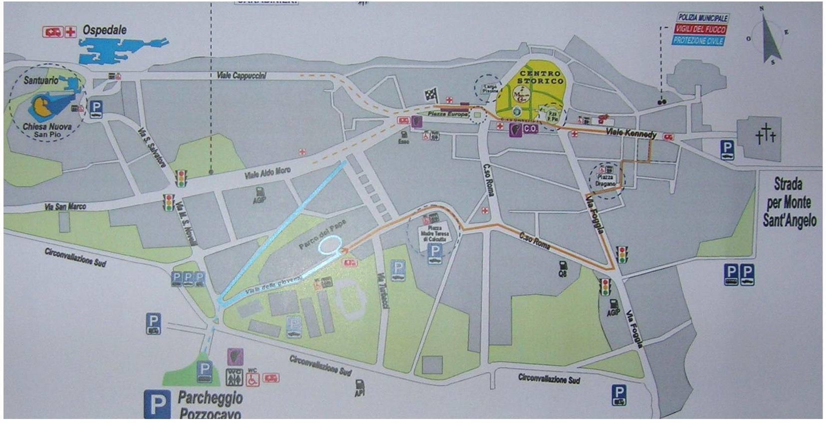 Cartina Geografica San Giovanni Rotondo.Mappa San Giovanni Rotondo Cartina Di San Giovanni Rotondo